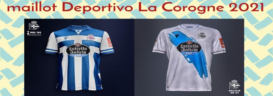 maillot Deportivo La Corogne 21-22